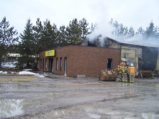 Aftermath of our fire in March 2010
